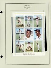 SENEGAL MNH Minisheet on Album Page Lot #14 - BASEBALL JACKIE ROBINSON - $$$