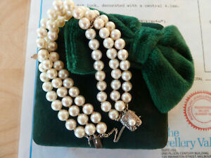 Exquisite Mikimoto Pearl Bracelet Sterling Silver Clasp