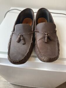 mens leather Loafers slip on shoes