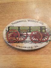 Vintage Lynchburg VA Thornhill Wagon Co Advertising Sharpening Stone