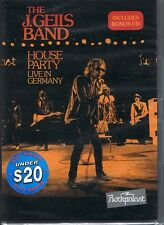 THE J. GEILS BAND House Party - Live In Germany DVD NEW & SEALED Free Post