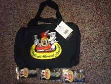 Disney Magical Musical Moments Mickey Mouse Pin Bag & Lot of MMM 18 Pins. NWT !!