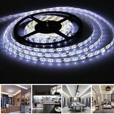 5m Waterproof 5050 SMD LED Strip Lights Cool White 300 LEDs for Car Caravan Home