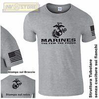 Camiseta GILDAN Militar Marines Marine Cuerpo USMC Camiseta Hombre ESTAMPADO G