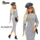 "ELENPRIV FAO-002 Gray dress beret bag Barbie Pivotal MTM Poppy Parker 12"" doll"