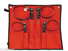 Bergen 4pc Metal Strap oil Filter Wrench Set Swivel head 69mm to 144mm A3025