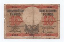 10 LEK LEKE OCCUPAZIONE ITALIANA  BANCA NAZIONALE D'ALBANIA 1940