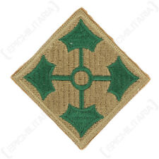 4th. Infantry Division - WW2 Repro US Patch Badge Uniform Insignia Sleeve Army
