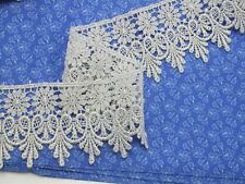 """Venise Lace 2 3/4"""" (69.85mm) Metallic Silver 3 Yards"""