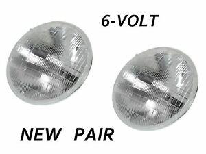 2 Sealed Beam Headlight Bulbs 6V 1940-1955 Nash 40 41 42 46 47 48 49 50 51 52 55