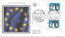 2001 - ENVELOPPE 1er JOUR FDC - N° S122 et 123 - CONSEIL de l'EUROPE
