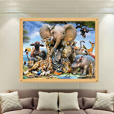 Zoo Elephant Animal 5D Diamond Embroidery Painting Cross Stitch Home Wall Decor