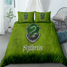 Harry Potter Slytherin Single/Double/Queen/King Bed Quilt Doona Duvet Cover Set