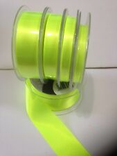 Berisfords NEON FLUORESCENT D/S Satin Ribbon - HI-VIZ - 4 Shades 3mm to 70mm