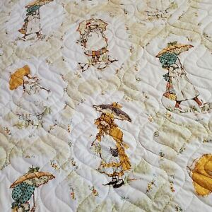 Springmaid Holly Hobbie Vintage Ruffle Bedspread Bed Cover Quilted Full Size
