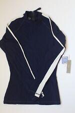 NWT J Crew Women's Striped Sleeve Rash Guard Navy Ivory Small A1709 UPF 50 $88