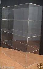 "Acrylic Counter top Display Case 16"" x 6"" x 19"" Show Case Cabinet Shelves"