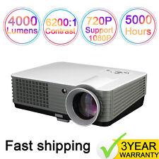 4000 Lumen 3D Home Theater Multimedia USB HDMI 1080P Full HD LED Video Projector