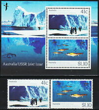 Australia, Antarctica Joint issue with Russia 1990, 2 stamps+Ss, Mnh