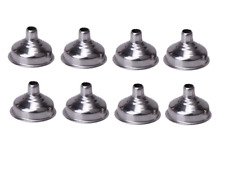 8 x inox bouteilles entonnoir métallique hip flacons huiles parfums sprays cônes