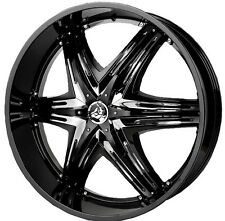 22 inch 22x9.5 DIABLO ELITE G2 Black wheel rim 5x115 +40