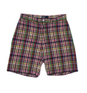Polo Ralph Lauren Plaid Shorts Men's Size 33 Pink Golf Khakis