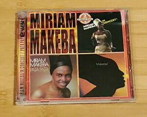 Miriam Makeba-In Concert/Pata Pata/Makeba!-3 LPs on 2 CDs, Pre-owned