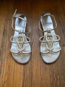 Calvin Klein Metallic Gold Gladiator Sandals 8M