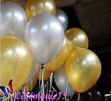 LOT DE 20 BALLONS ARGENT NACRES DECORATION MARIAGE BAPTEME FETE