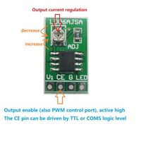 DC 3.3V 3.7V 5V LED Driver 30-1500MA Constant Current Adjustable Module PWM