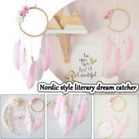 Pink Dream Catcher Girls Dreamlike Feather Dreamcatcher Wall Hanging Home Decor