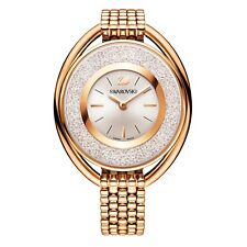 New Swarovski Crystalline 1700 Crystals Oval Rose Gold Steel Women Watch 5200341