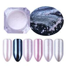 1g Nail Art Glitter Mermaid Pearl Powder Shiny Mirror Matte Pigment Dust Decor