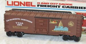 Lionel 1984 TTOS Sacramento Convention Car Custom Nostalgia Train Works O Gauge