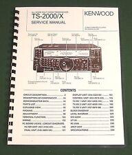 Kenwood TS-2000 Service Manual: Premium Card Stock Covers & 28lb Paper!