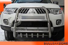 MITSUBISHI L200 2011+ PARE-BUFFLE HAUT AVEC GRILLE DE PROTECTION CARTER EN INOX