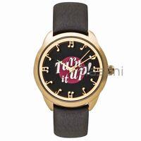 Kate Spade Original KSW1148 Women's Record Crosstown Black Leather Watch 34mm