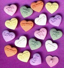 CANDY KISSES-Pastello LOVE CUORI SAN VALENTINO dress It Up Bottoni Craft