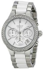 DKNY NY8181 White Dial Two Tone Stainless Steel Chronograph Women's Watch