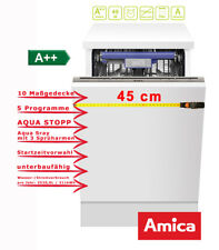 Geschirrspüler kompakt Vollintegrierbar 45cm A++ 10 Maßgedecke EGSP 14968 V