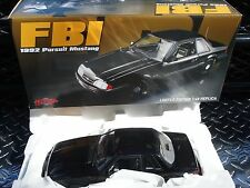 GMP 1992 Ford Mustang FBI Pursuit Blacked Out 1:18 Scale Diecast Model Agent Car