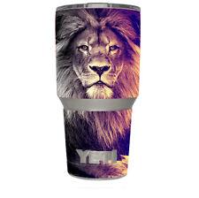 Skin Decal (6-piece kit) for Yeti 30 oz Rambler Tumbler Cup / Proud Lion, King