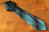 KENZO Genuine Men's 100% Silk Green Black Striped Tie Brand New Made in Italy