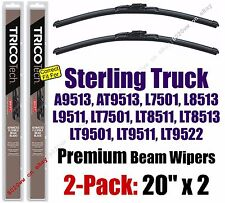 Wipers 2-Pack Premium - fit 1999-2001 Sterling Truck A AT L LT Series - 19200x2