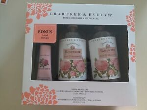 Brand New With Box Crabtree Evyn Rose Shower Gel Set
