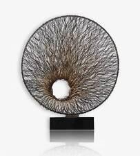"""Grand ronde Fer Sculpture """"Flux «sur Base en marbre. Hauteur 90 cm/Diamètre"""
