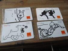 Tintin-Lot anciennes cartes telephonique,Tintin&Milou-(3 neuves) noir&blanc