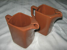 A Matching Pair of Vintage 1960's Australian Diana Studio Pottery Brown Jugs U73