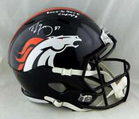 Ed McCaffrey Signed Denver Broncos F/S Speed Helmet w/Insc - JSA W Auth *