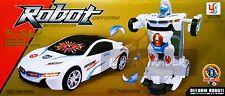 Troopers Trasformatore auto si deformano Robot con Luce & Suono Racing Concept Bambini Giocattolo